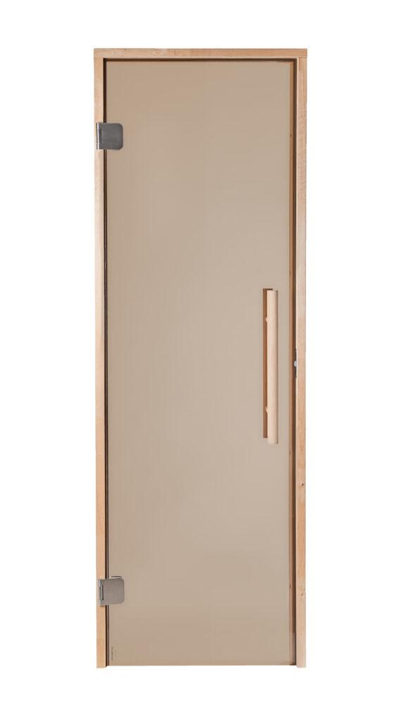 Proks klaas, vertikaalne käepide, laiad roostevabad hinged, rull-lukk sulgur