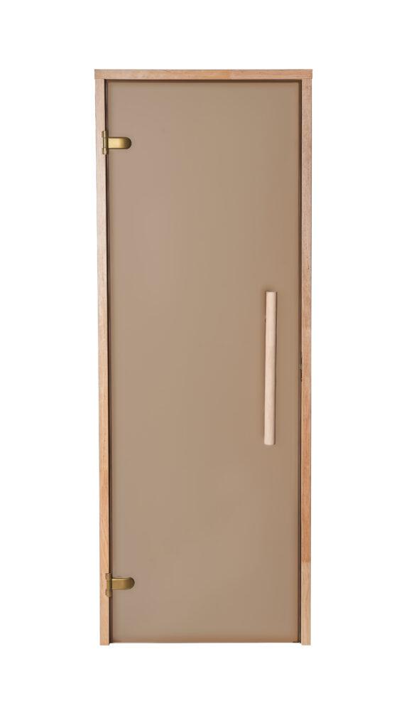 Matistatud pronks/satiin klaas, vertikaalne käepide, abloy pronks hinged